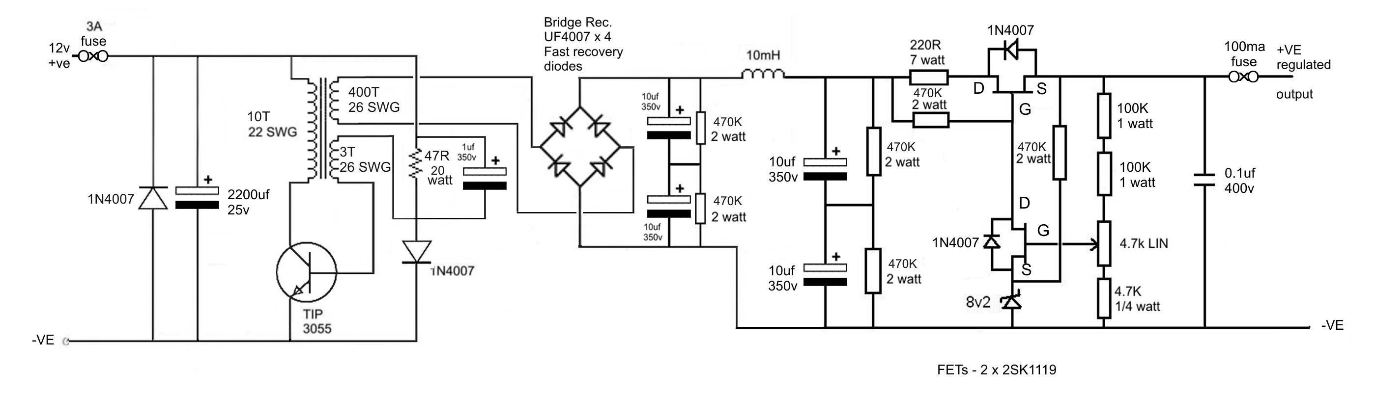 Ws62 Inverter 500 Watt Circuit Diagram Click On Image For Larger View Of Layout